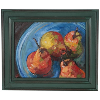Monica Cascio Still Life Oil Painting of Pears