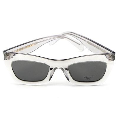 Céline CL 41399/S Transparent Gray Modified Cat Eye Sunglasses