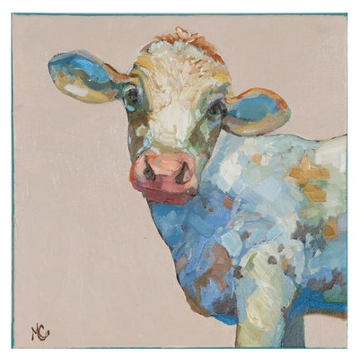 Monica Cascio Oil Painting of Cow