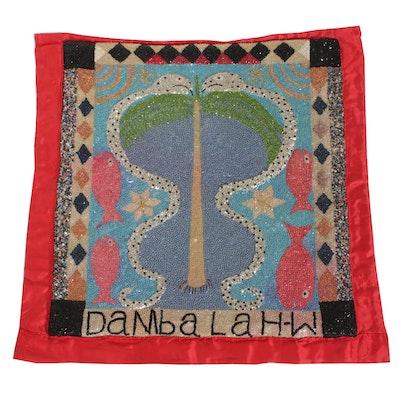 Handmade Haitian Dambalah Veve Drapo Vodou Flag