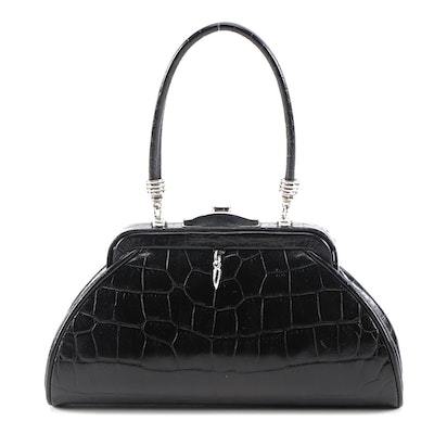 Glen Miller for Ann Turk Crocodile Embossed Handbag
