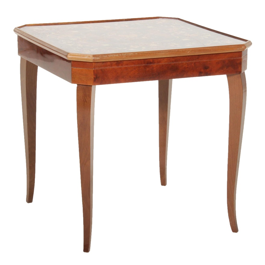 Louis XV Style Marquetry Games Table