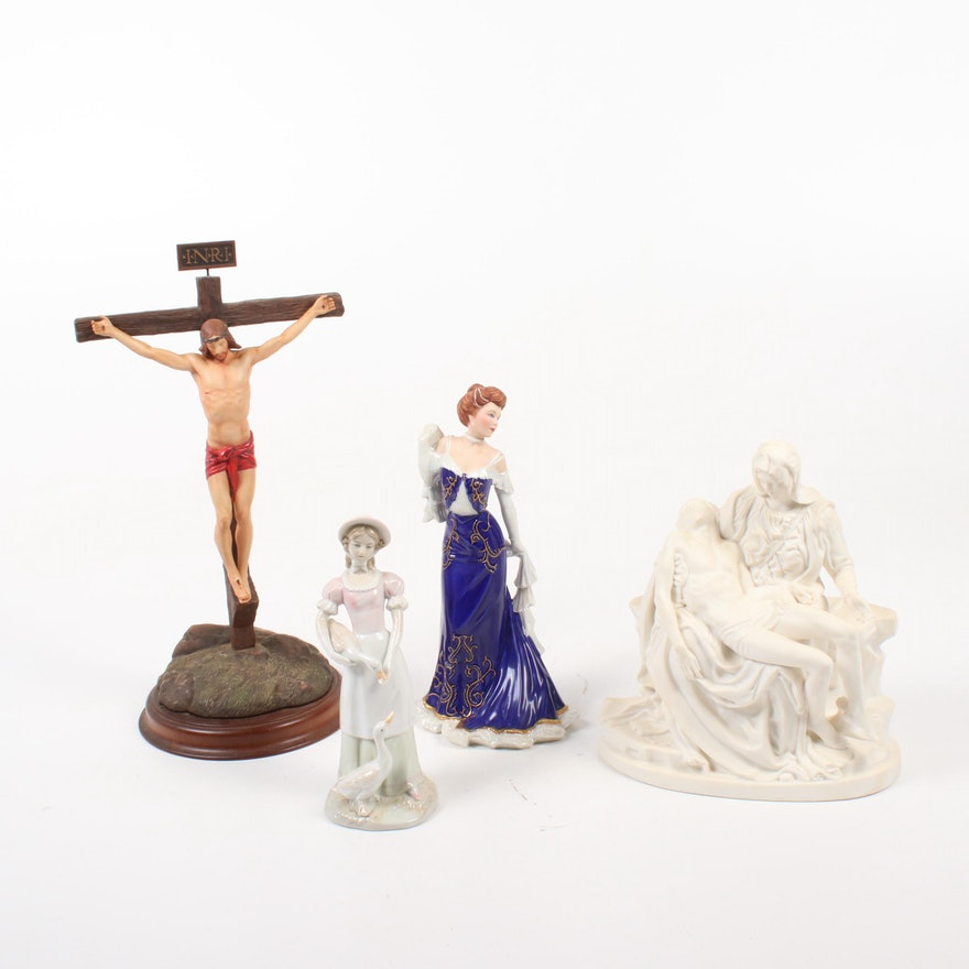 The Franklin Mint Religious and Other Porcelain Figurines