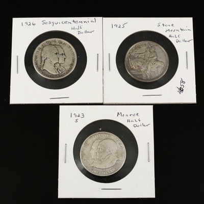 Three U.S. Commemorative Silver Half Dollars From the 1920s