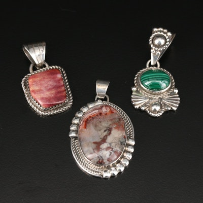 Sterling Silver Gemstone Pendants Featuring Southwestern and Navajo Artisans