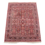 7'5 x 10'5 Hand-Knotted Indian Numani Wool Rug