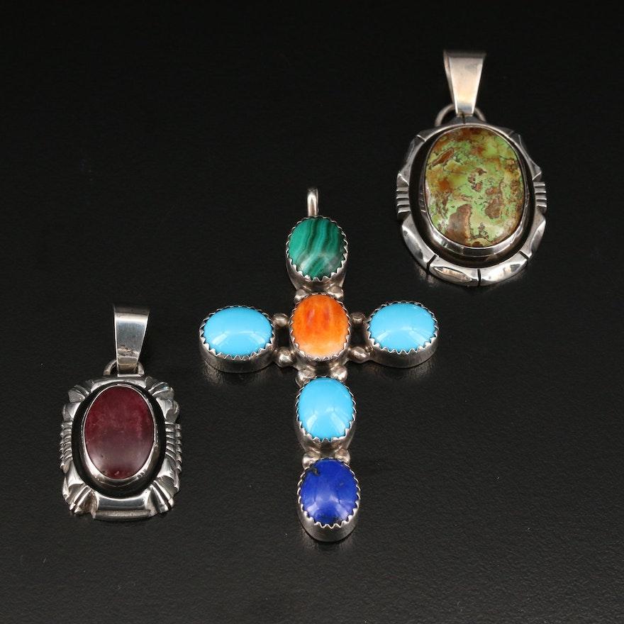 Jack Whitaker Southwest Shop Sterling Silver Gemstone Pendants