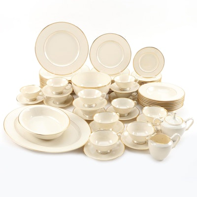 "Lenox ""Mansfield"" Porcelain Dinnerware, Mid to Late 20th Century"
