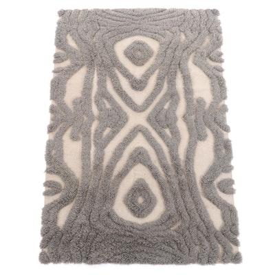 5'4 x 8'0 Handmade Moroccan Plush Wool Area Rug