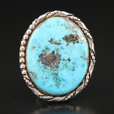 VinCent Southwestern Style Sterling and Turquoise Pendant