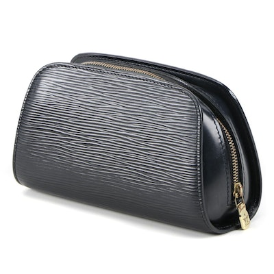 Louis Vuitton Dauphine Cosmetic Pouch in Black Epi Leather