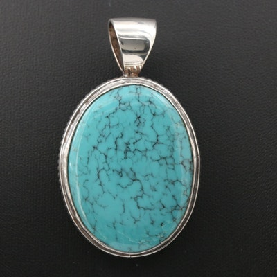 Vincent Southwestern Sterling Silver Turquoise Pendant
