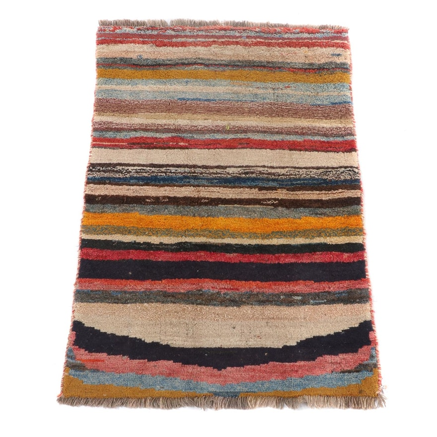 3'5 x 4'10 Hand-Knotted Persian Gebbeh Wool Rug