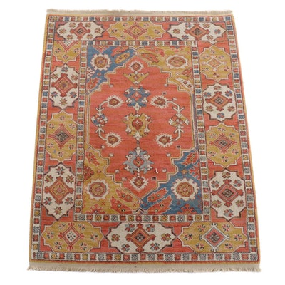 "4'2 x 5'6 Machine Made Karastan ""Heriz-Serapi"" Wool Area Rug"