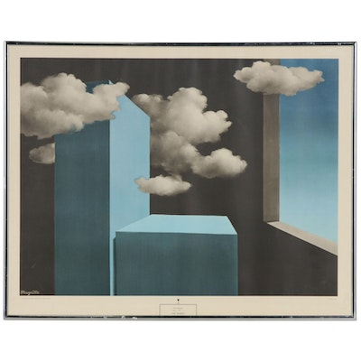 "Lithograph After René Magritte ""The Tempest"""
