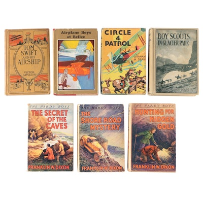 """Tom Swift"", ""Tim Murphy"", ""Airplane Boys"", ""Boys Scouts"" and ""Hardy Boy"" Books"
