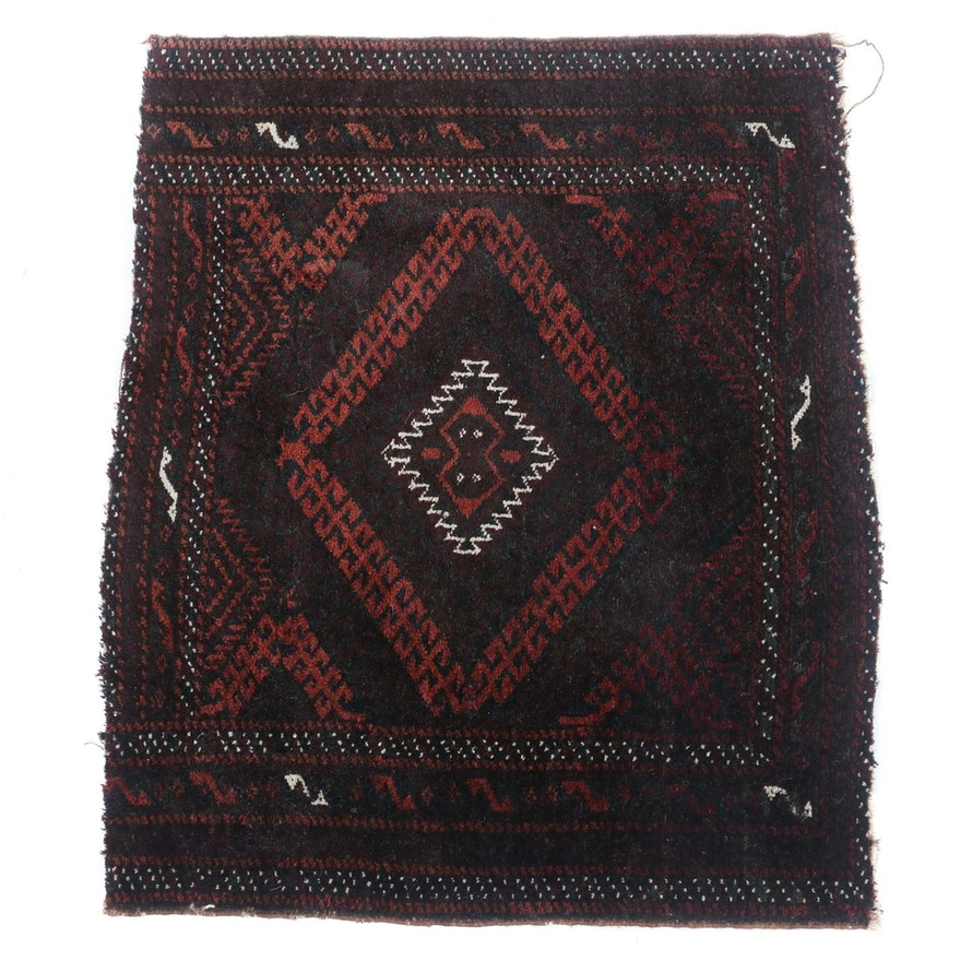 2'0 x 2'5 Hand-Knotted Afghani Baluch Wool Rug