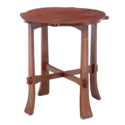 Stickley Arts & Crafts Style Oak End Table, Late 20th Century