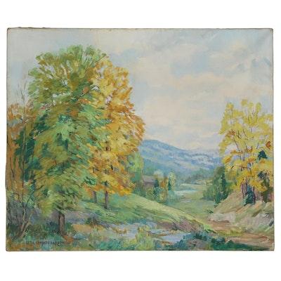 Etta Corbett Garson Landscape Oil Painting