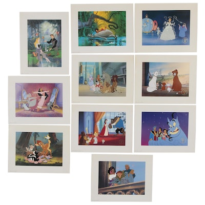 "Disney Store Commemorative Offset Lithographs Including ""Cinderella"" and ""Bambi"""