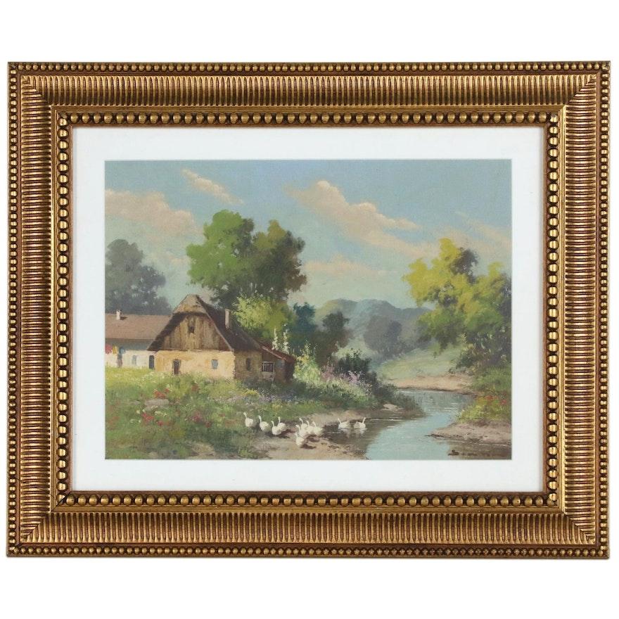 European Landscape Oil Painting