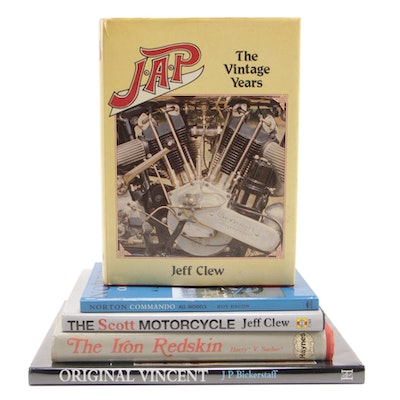"First Edition ""JAP: The Vintage Years"" by Jeff Clew with Other Motorcycle Books"