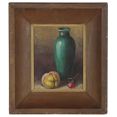 Still Life Oil Painting, Mid to Late 20th Century