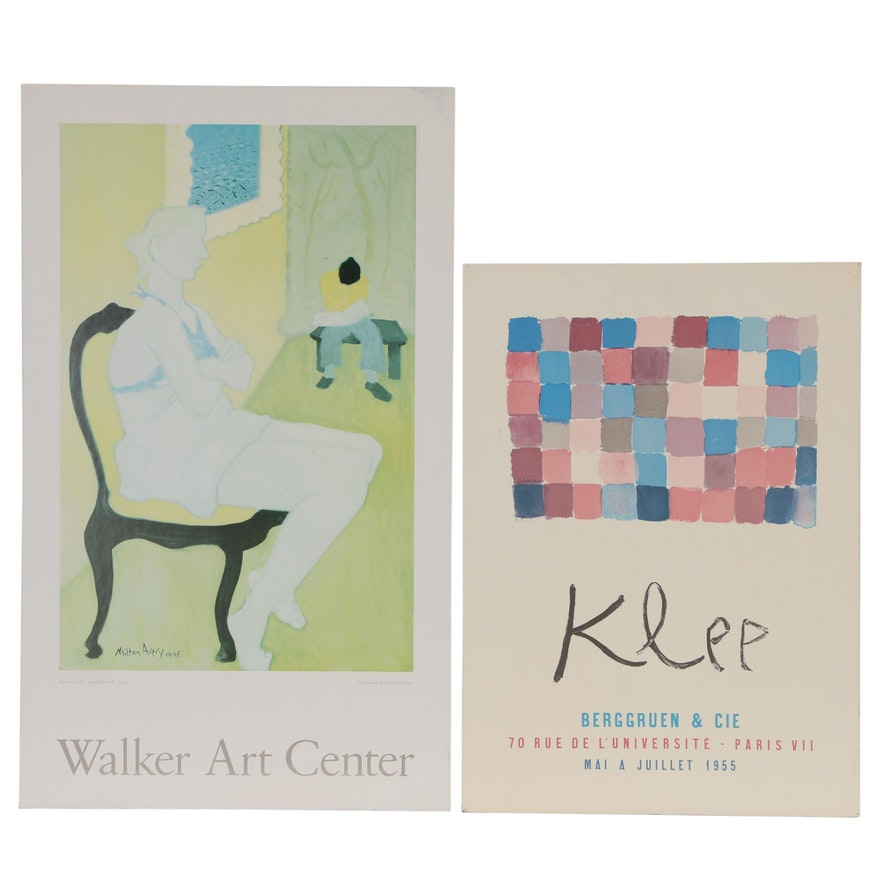 Milton Avery and Reproduction Paul Klee Exhibition Posters