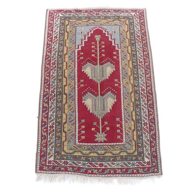 3'3 x 6'3 Hand-Knotted Turkish Anatolian Wool Rug