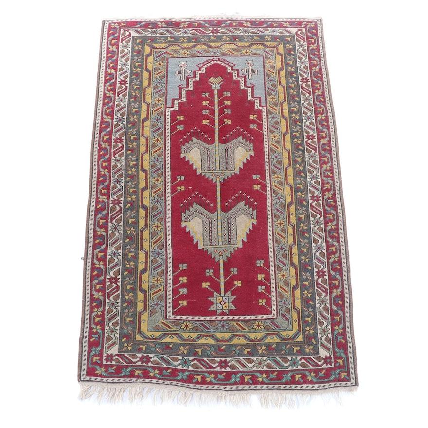 3'3 x 6'3 Hand-Knotted Turkish Anatolian Wool Rug