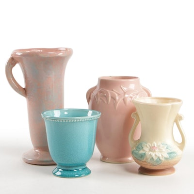 McCoy, Hull and Other Art Pottery Vases, Mid-20th Century