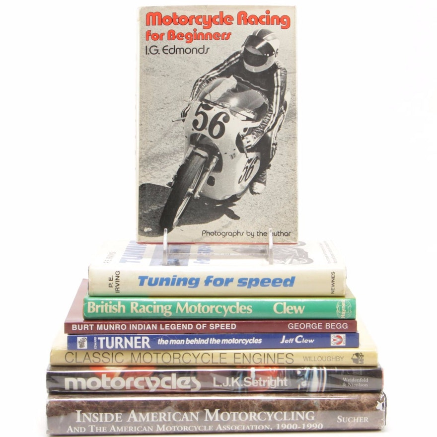 """First Printing """"Inside American Motorcycling"""" by Harry Sucher and More"""