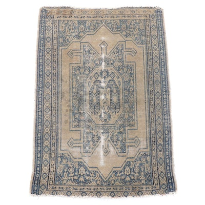 2'0 x 2'11 Hand-Knotted Persian Fareghan Wool Rug
