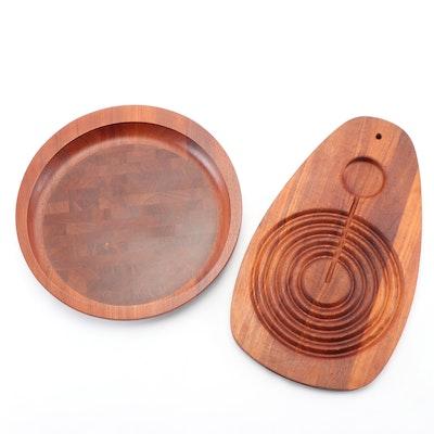 Dansk Danish Modern Walnut Cutting Boards by Jens Quistgaard