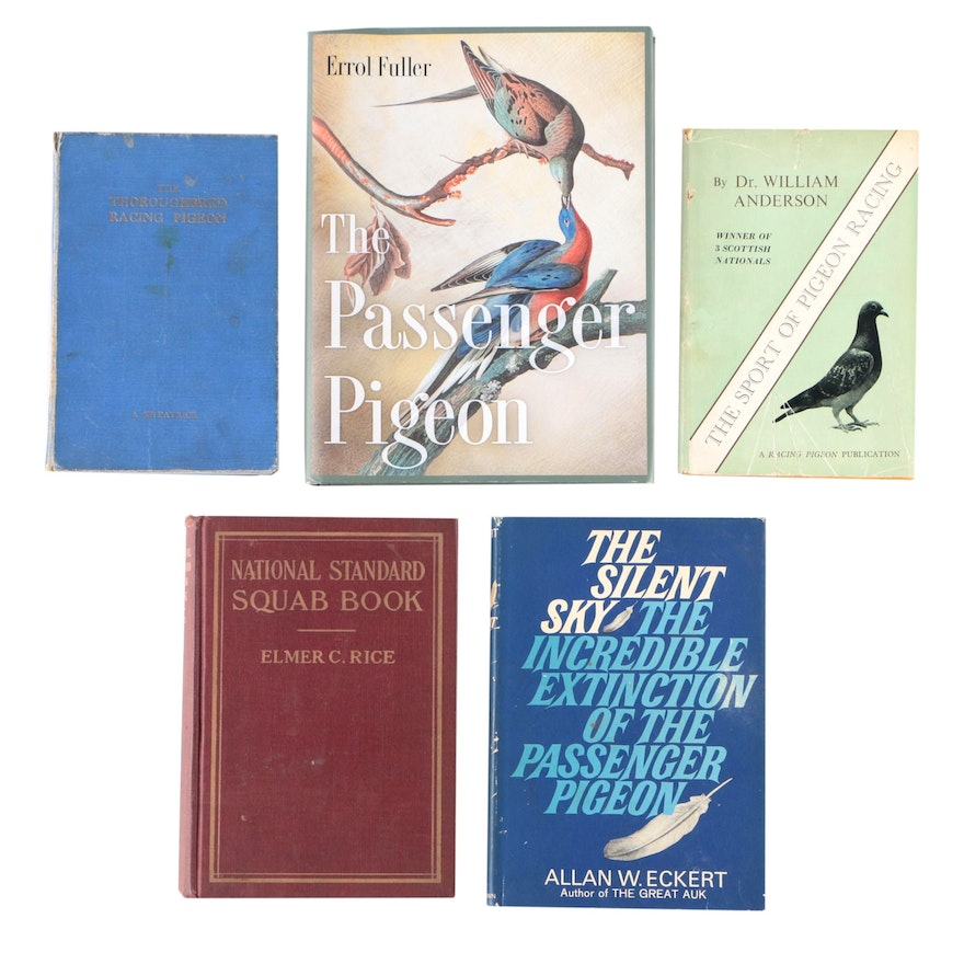 "First Edition ""The Silent Sky"" by Allan Eckert with More Books on Pigeons"