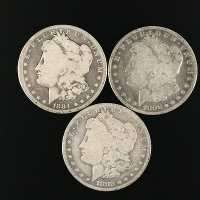 Morgan Silver Dollars Including Better Date 1884-S