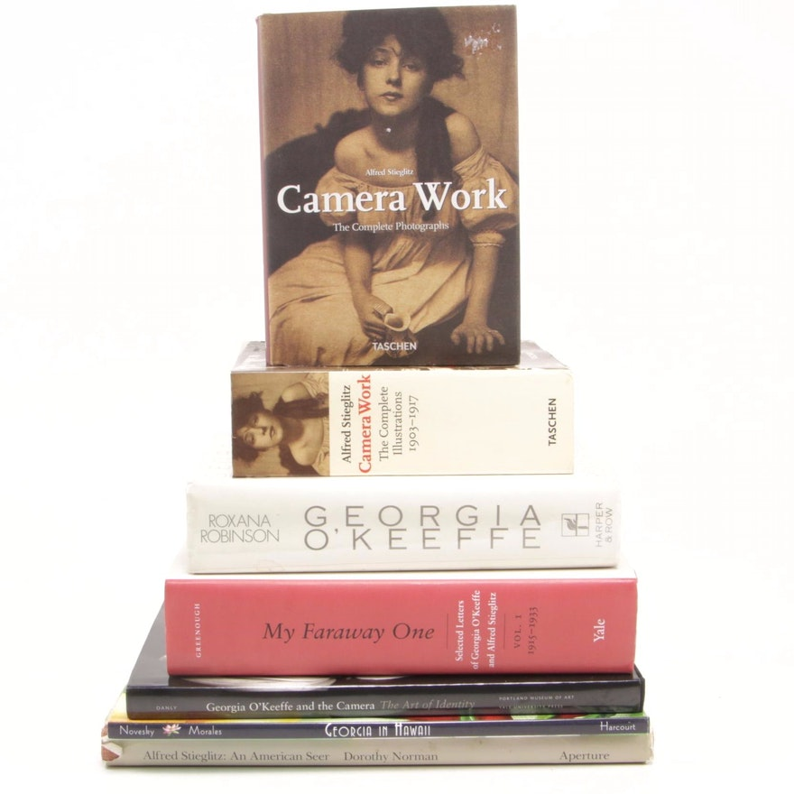 "Georgia O'Keeffe and Alfred Stieglitz Book Collection Including ""My Faraway One"""