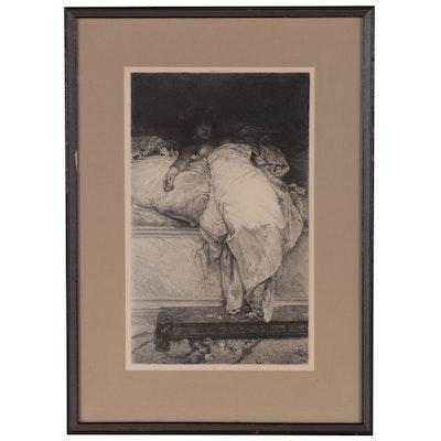 "Eugene-Andre Champollion Engraving After Henrique Bernadelli ""Messalina"", 1894"