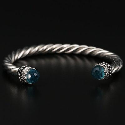 Cuff Bracelet with Rhinestone Ends