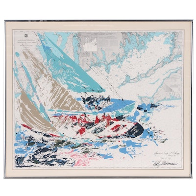 "Serigraph after LeRoy Neiman ""America's Cup 19th Challenge"""