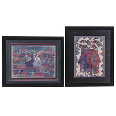 Giclee Prints of Stylized Native American Motifs