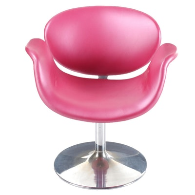 Turner Ltd. Swivel Chrome Chair, Late 20th Century