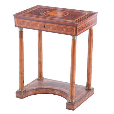 Neoclassical Style Inlaid Dressing Table, Late 20th Century
