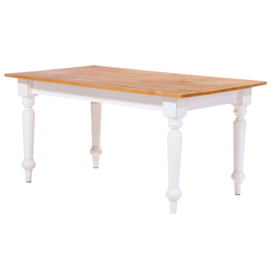 Painted Maple Dining Table, Late 20th Century