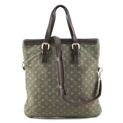 Louis Vuitton Francoise Shoulder Bag in Olive Green Monogram Mini Lin Canvas