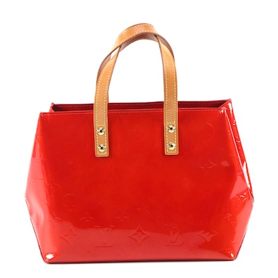 Louis Vuitton Reade PM in Red Vernis and Vachetta Leather