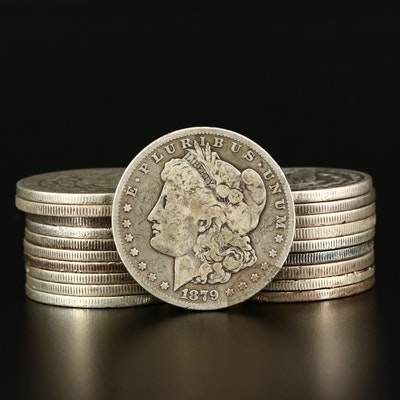 Twenty Morgan Silver Dollars