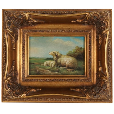 Offset Lithograph of Sheep