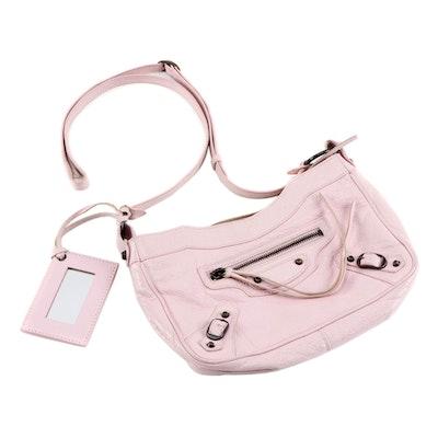 Balenciaga Classic Hip Crossbody Bag in Pink Agneau Leather