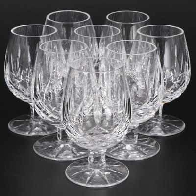 "Waterford Crystal ""Lismore"" Small Brandy Glasses, Mid to Late 20th Century"